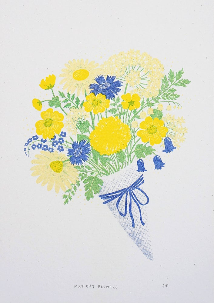 Image of May Day Flowers - Risograph Print