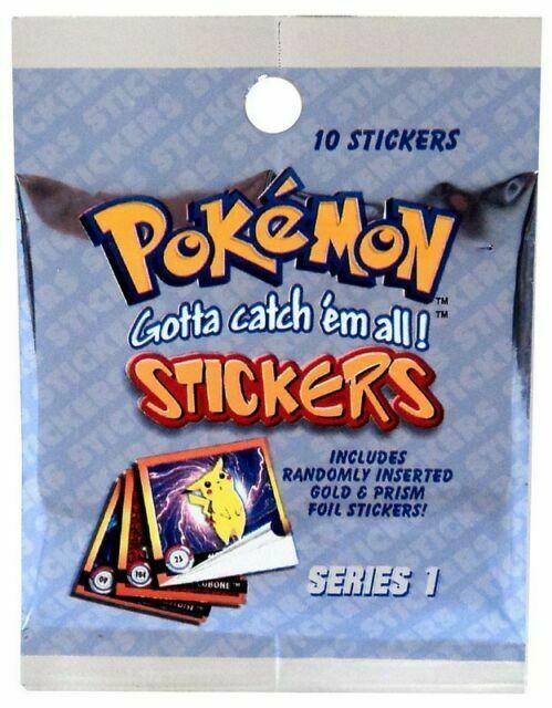 Vintage Pokemon Sticker Packs 1999 Unopened