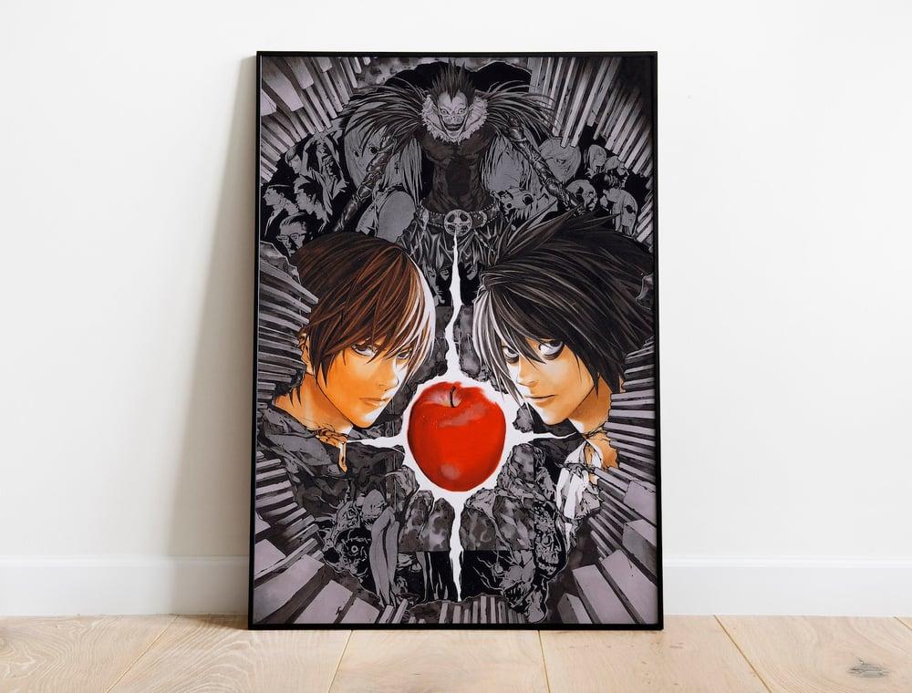 Death Note - Ryuk, Light Yagami, L, Anime Poster