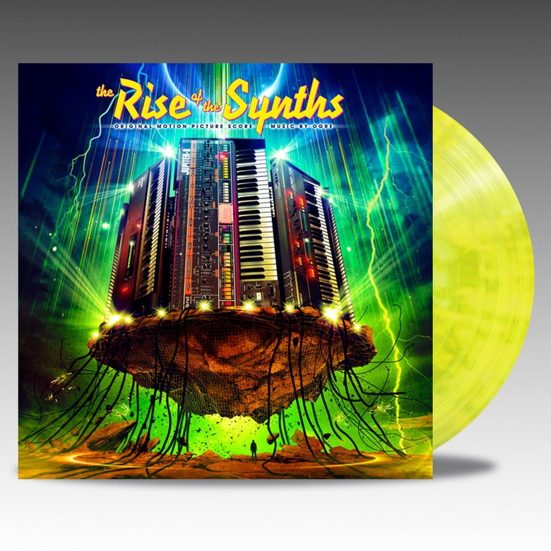 Image of The Rise Of The Synths (Original Motion Picture Score) - 'Yellow And Green Marble' Vinyl - Ogre