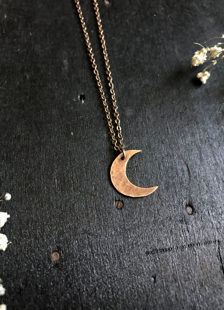 Image of copper moon necklace