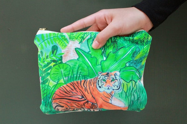 Image of Organic Tiger Zipper Pouch