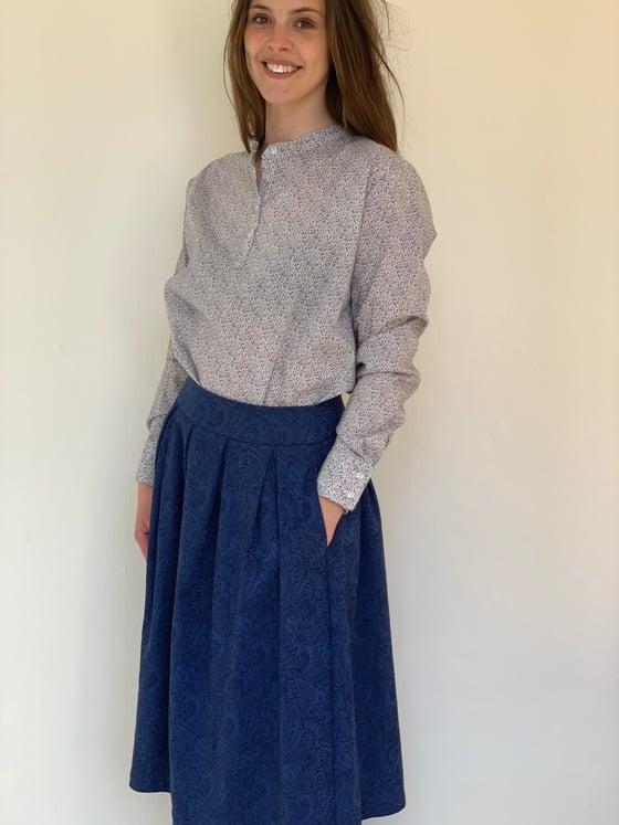 Image of Liberty® små blomstret skjorte
