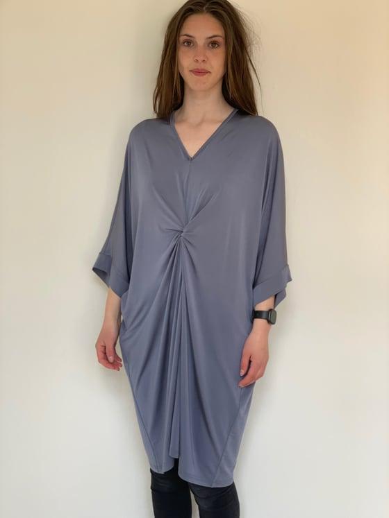 Image of Grå/blå kjole