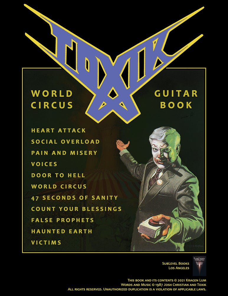Image of Toxik - World Circus Guitar Book (Deluxe Print Edition + Digital Copy)