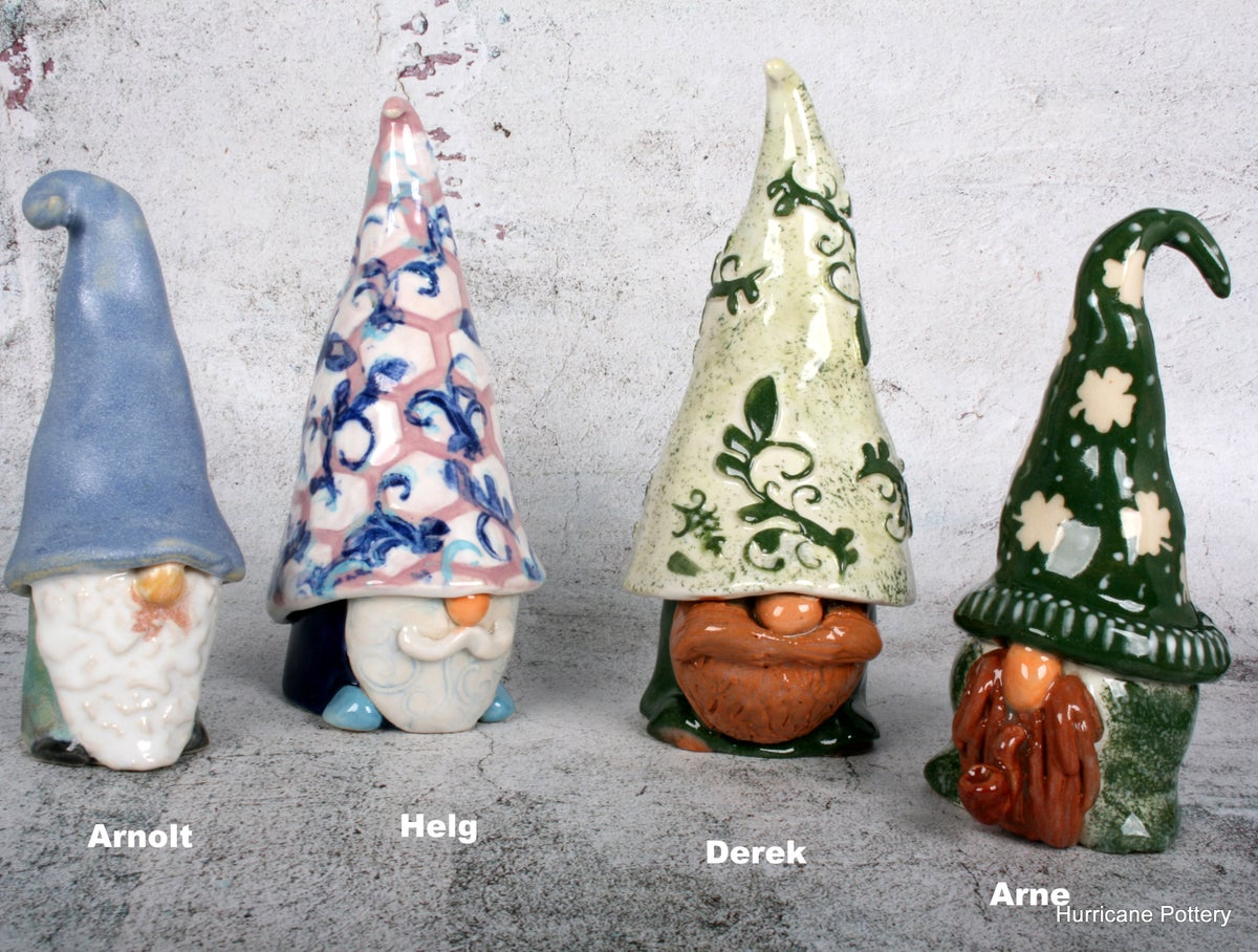 Image of Handmade Stoneware Gnome for Home and Holiday Decor