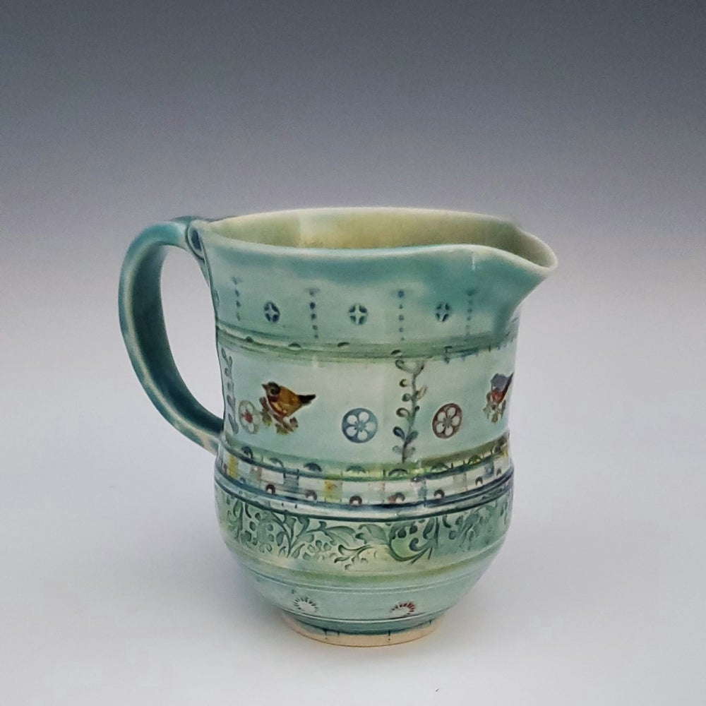 Image of Songbird Porcelain Small Pitcher
