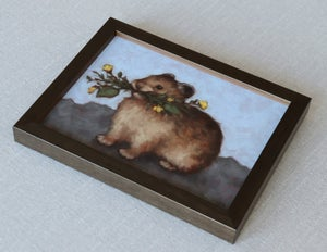"""Image of Study for """"Foraging Pika"""" Original Oil Painting"""