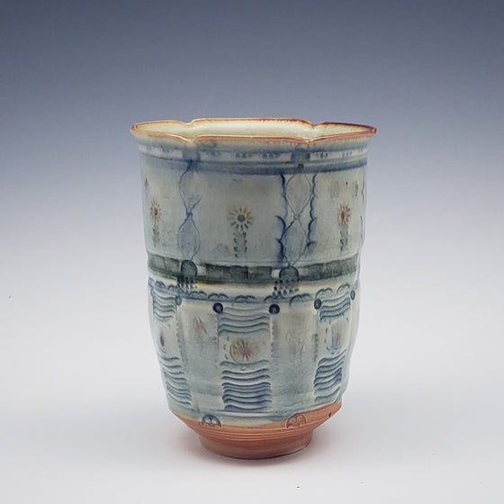 Image of Woodfired Cornflower Porcelain Tumbler