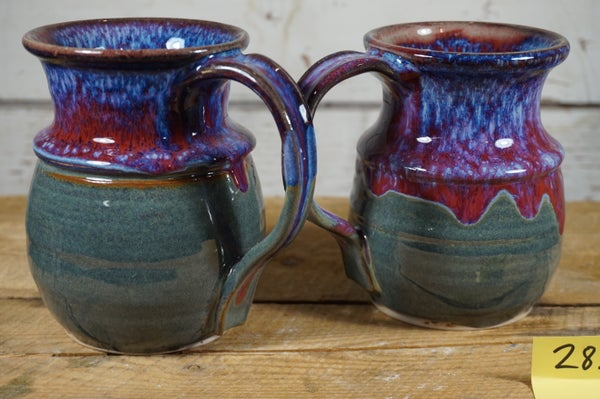 Image of Flowing purple/blue mugs, set of 2