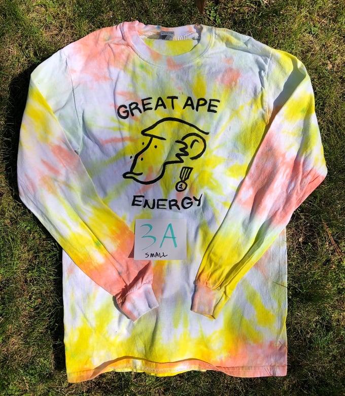 Image of Great Ape Energy Tie-Dye Long Sleeved Shirt (Set 1)