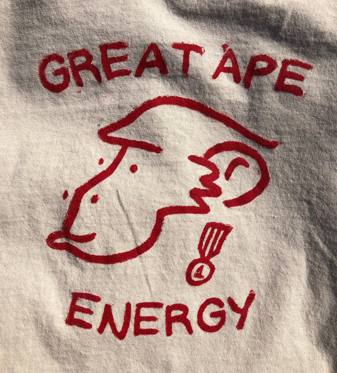 Image of Great Ape Energy Plain T-shirt