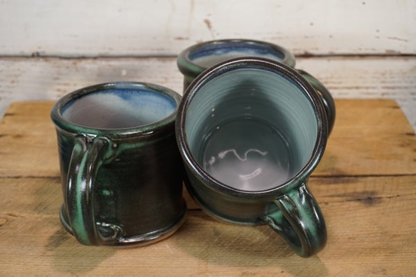 Image of Verdigris Rolled-rim Mugs