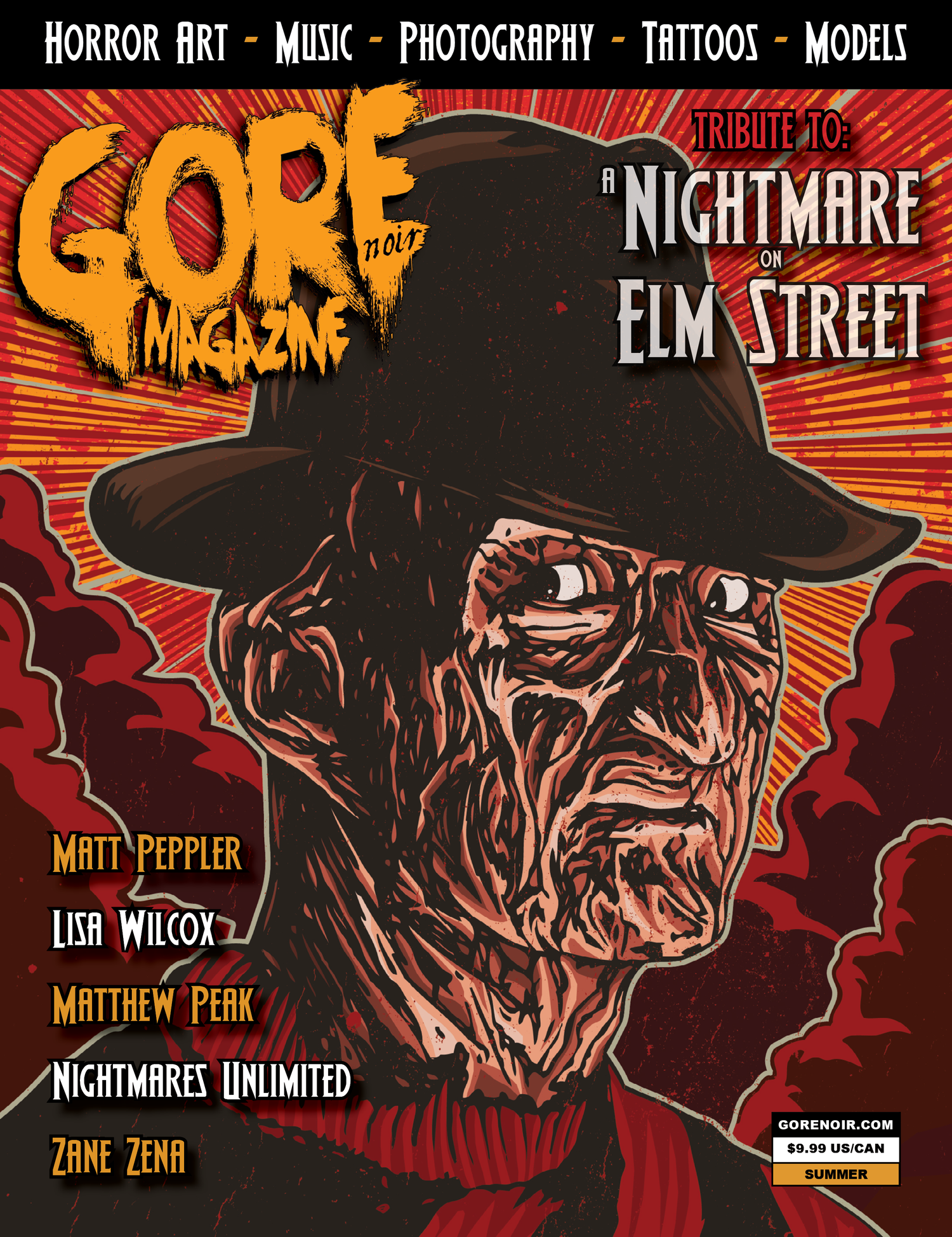 Image of Nightmare On Elm Street SLASHED EDITION!  LE of 50