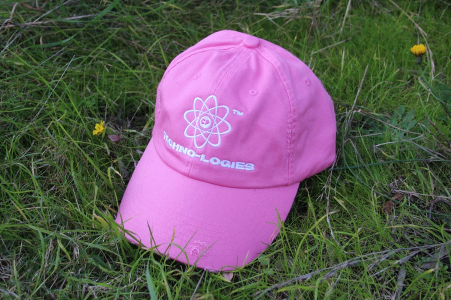 Image of Distressed Techno Cap (Pink)