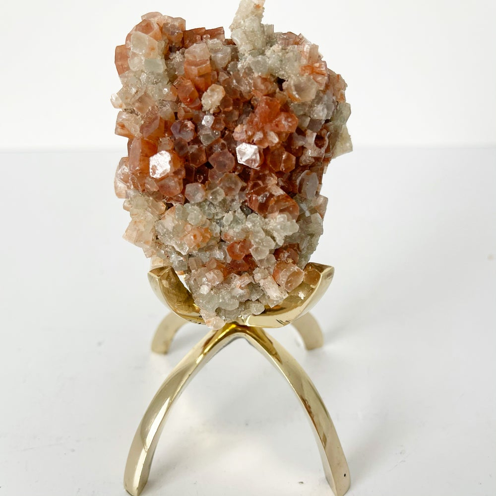 Image of Aragonite no.21 + Brass Claw Stand