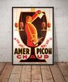 Amer Picon Chaud | Noël Fontanet | 1935 | Vintage Ads | Wall Art Print | Vintage Poster
