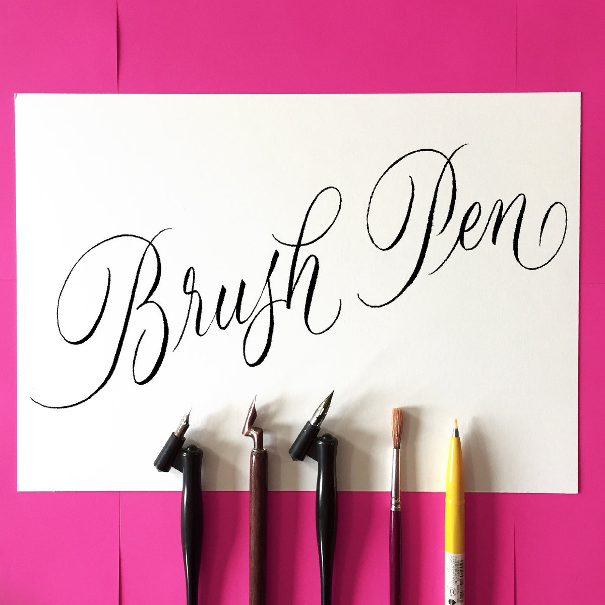 Image of In-Person Brush Calligraphy Weekend