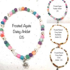Image of Mixed Wellbeing & Glow Bead Anklets