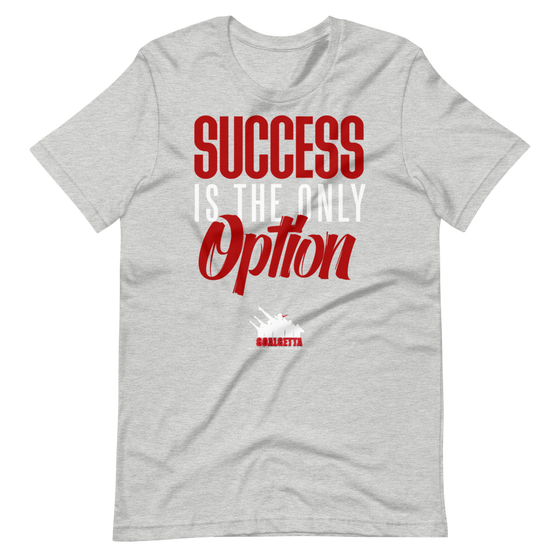 Image of GOALGETTA GREY SUCCESS IS THE ONLY OPTION T-SHIRT