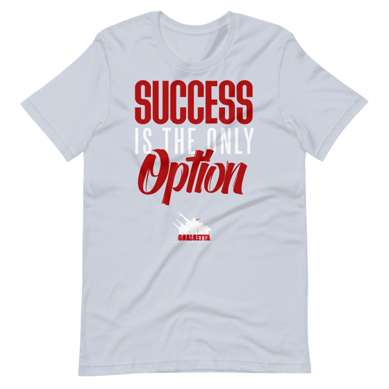 Image of GOALGETTA LIGHT BLUE SUCCESS IS THE ONLY OPTION T- SHIRT