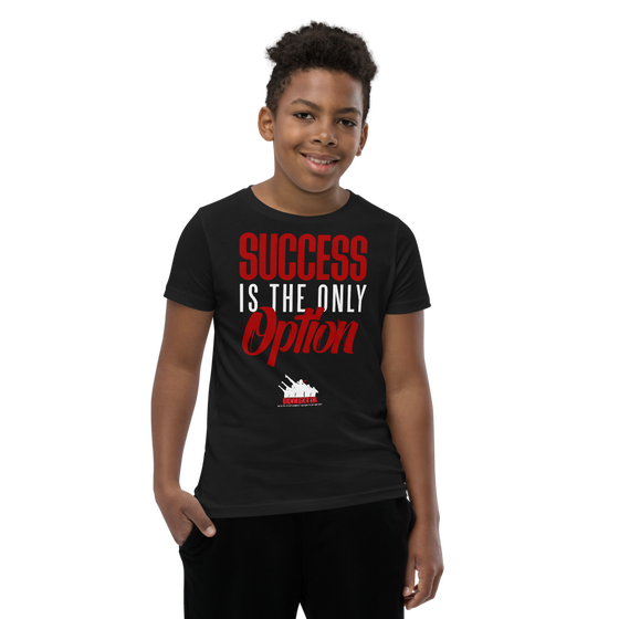 Image of KIDS GOALGETTA  BLACK SUCCESS IS THE ONLY OPTION SHIRT
