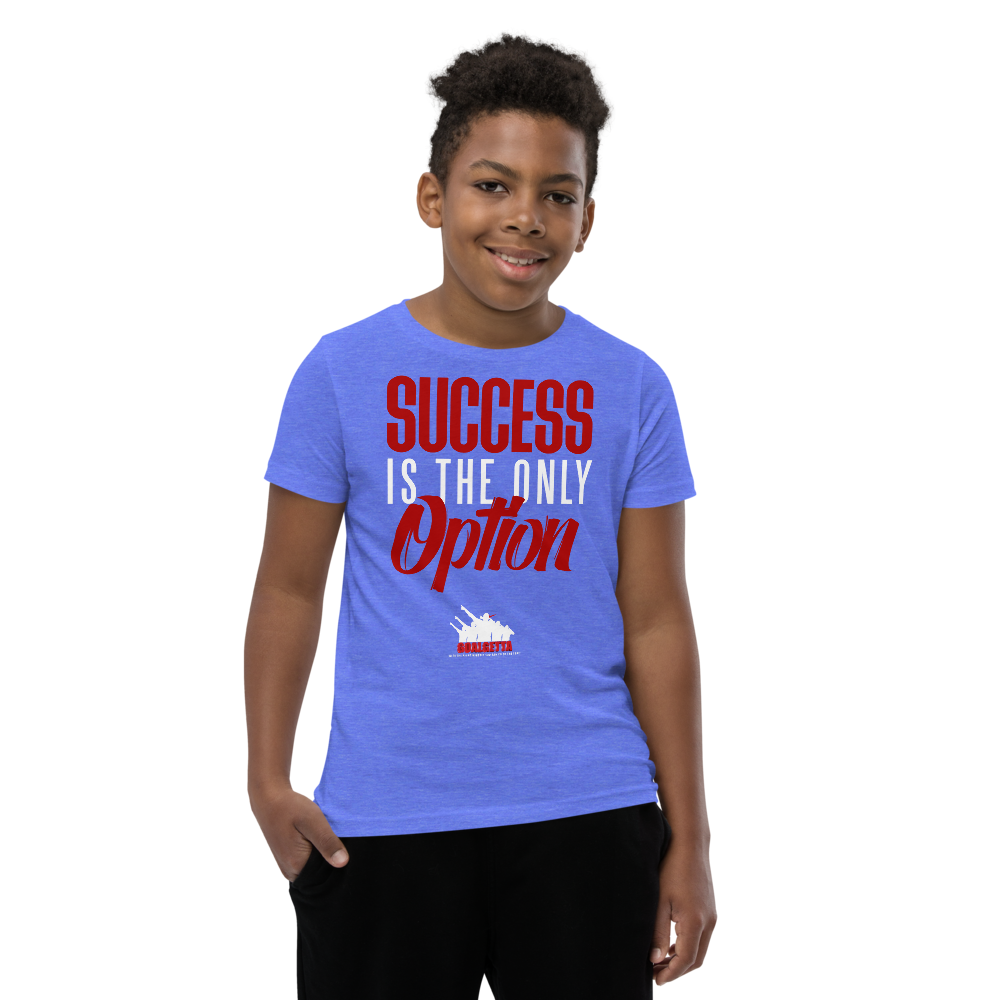 Image of KIDS GOALGETTA  BLUE SUCCESS IS THE ONLY OPTION SHIRT