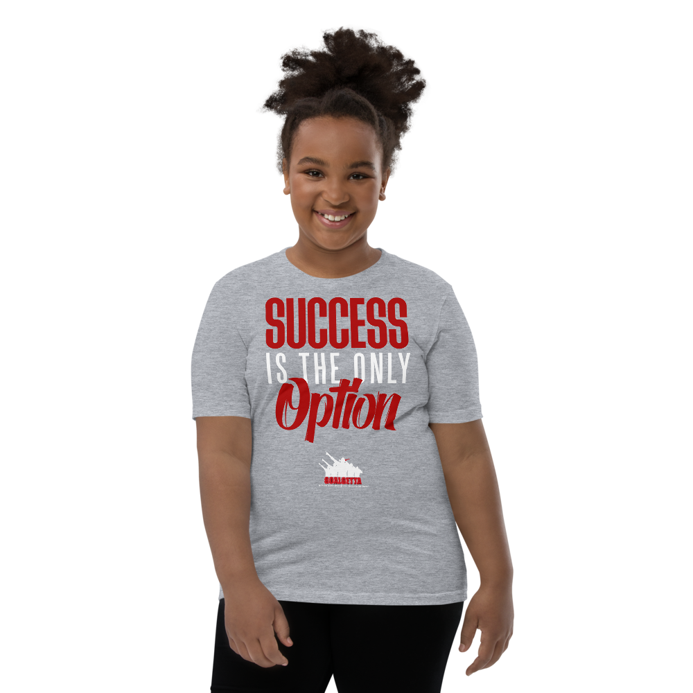 Image of KIDS GOALGETTA  GREY SUCCESS IS THE ONLY OPTION SHIRT