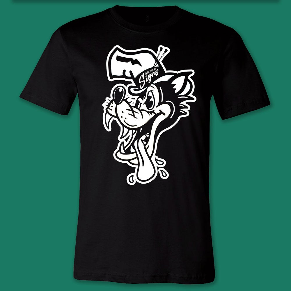 Image of Big Bad Wolf- Black T-shirt- PREORDER