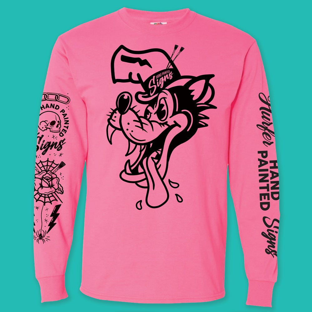 Image of Big Bad Wolf- Pink Long Sleeve- PREORDER