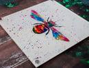 Image 1 of Rainbow  Bee Acrylic Wall Art
