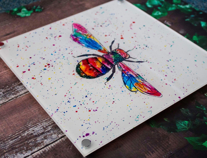 Image of Rainbow  Bee Acrylic Wall Art