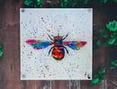 Image 2 of Rainbow  Bee Acrylic Wall Art