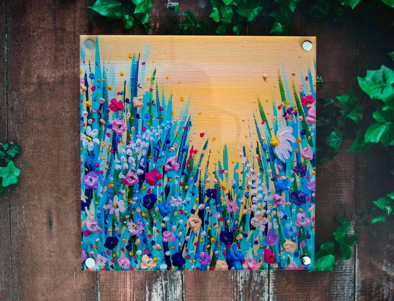 Image of Yellow Acrylic Wall Art