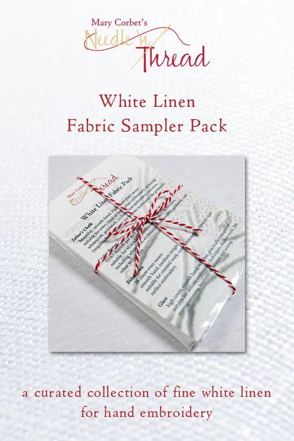 Image of White Linen Fabric Sampler Pack