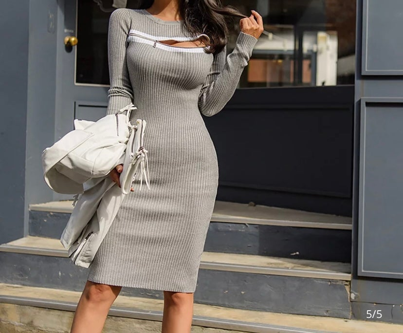 Image of SLAY THE GREY DRESS