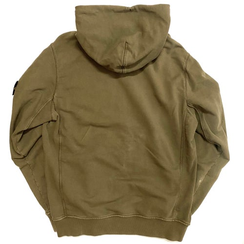 Image of Stone Island pullover badge hoodie (Fits M-L)