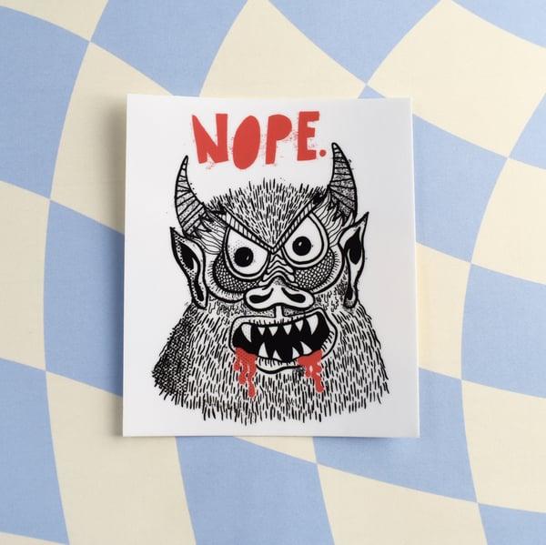Image of NOPE Sticker