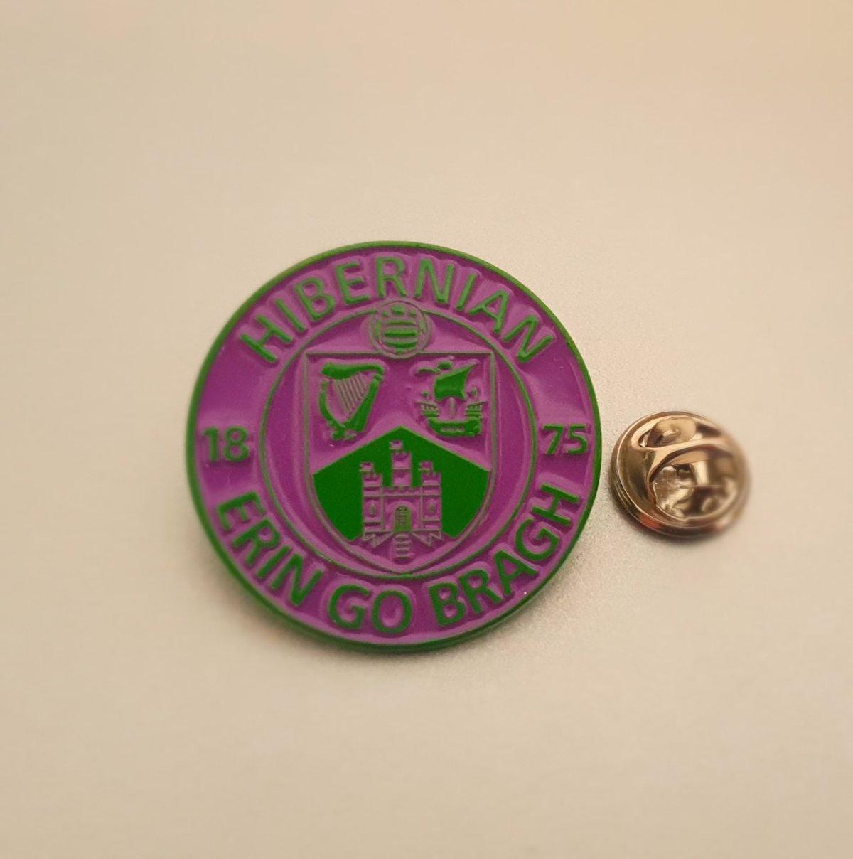 Hibs, Hibernian, Erin Go Bragh 30mm Football Pin Badges Various colours.