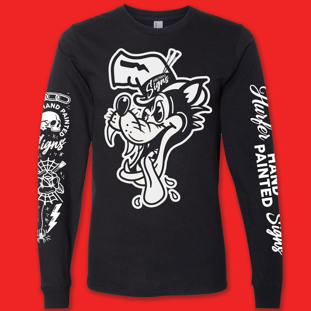 Image of Big Bad Wolf- Black Long Sleeve- PREORDER