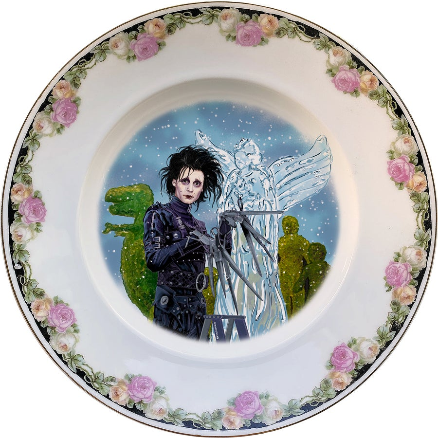 Image of Edward Scissorhands - Vintage Limoges porcelain Plate - #0758