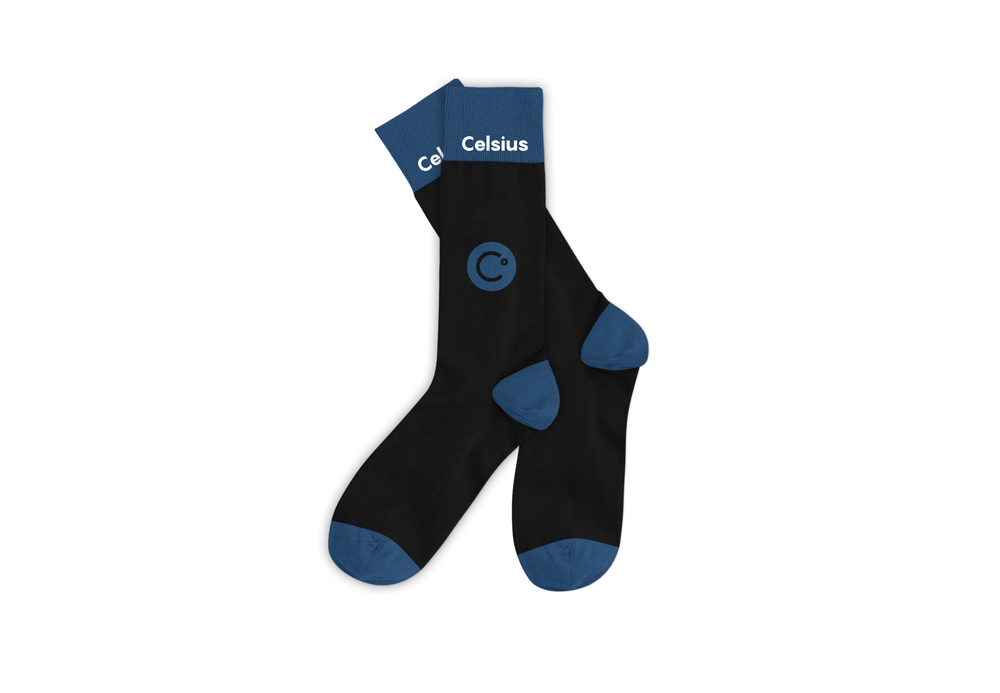 Image of Celsius Blue and White Cotton Sock