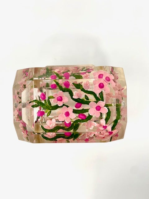 Image of Painted Mini Victorian Cherry Blossoms Box