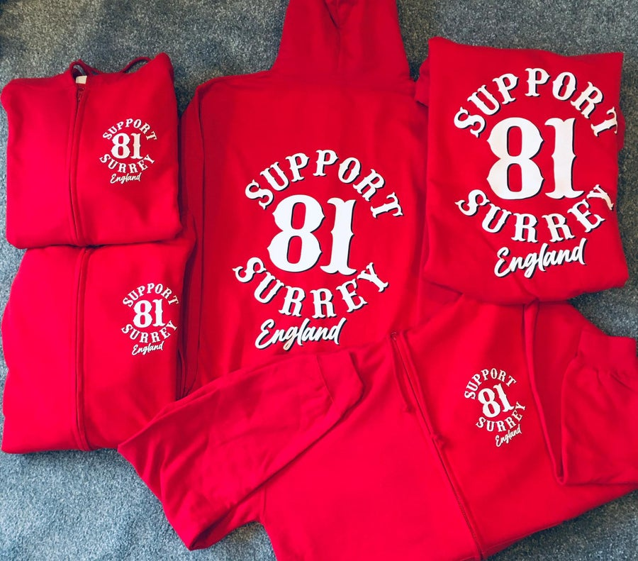 Image of NEW DESIGN BRM 81 Support Surrey England Zipped Hood