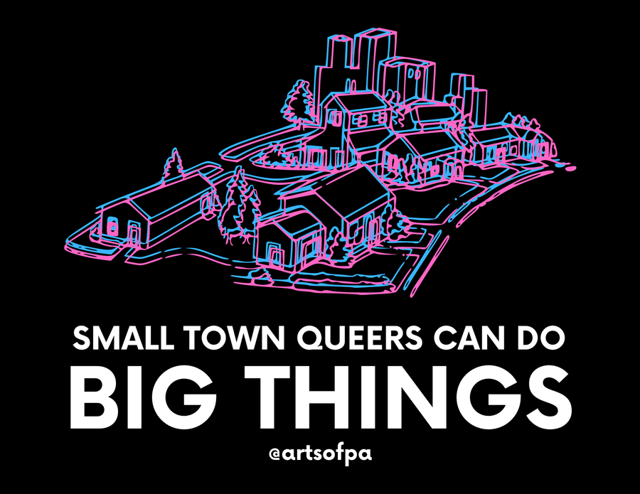 Image of Small Town Queers Can Do Big Things - Postcard