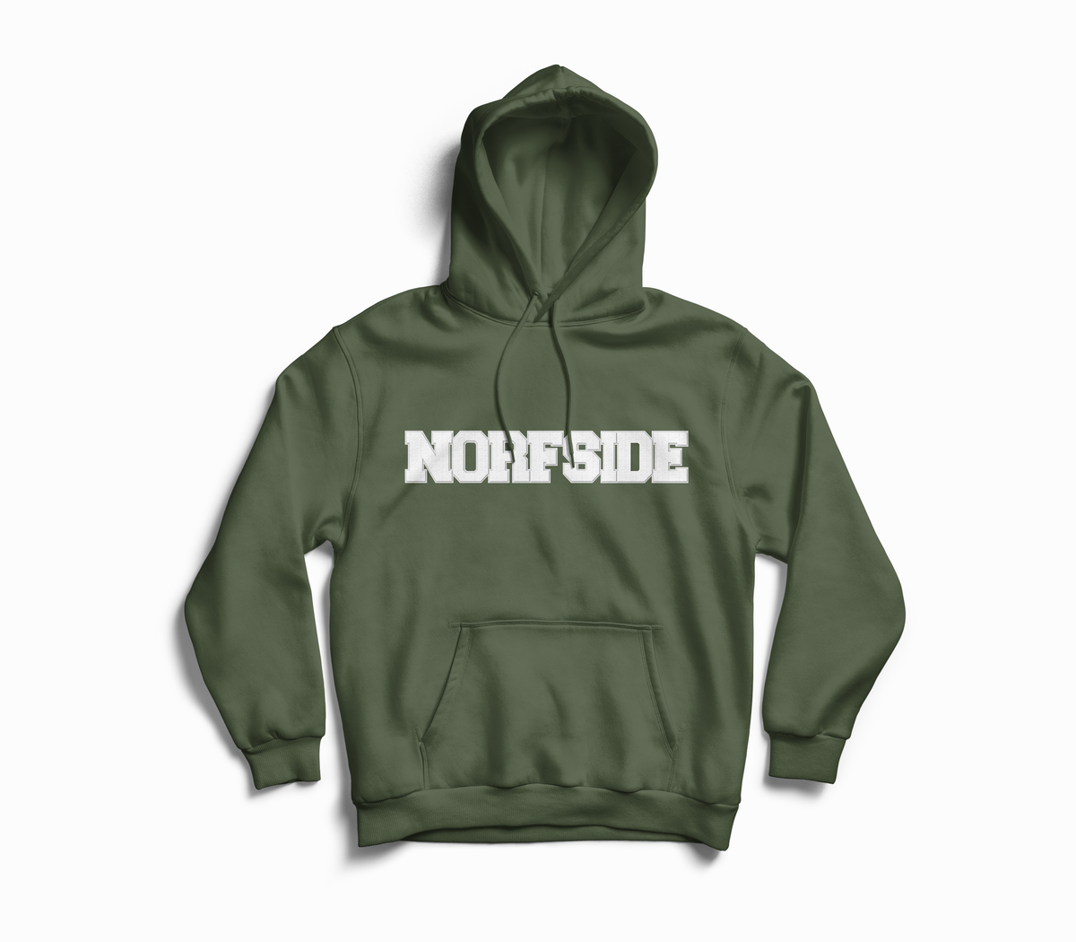 Image of Military Green Chenille Patch Hoodie
