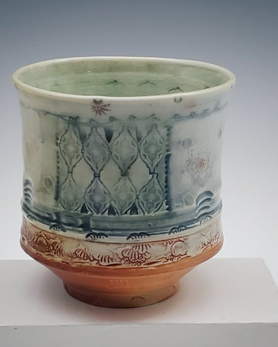Image of Tiara Lattice Salt Fired Tea Tumbler