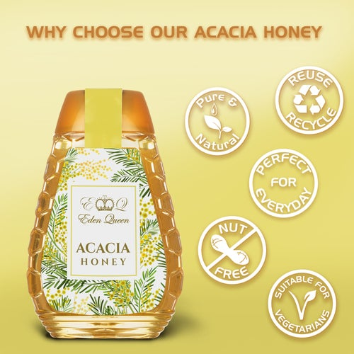 Image of Acacia Honey 3 Pack Squeezy (340 grams x 3)
