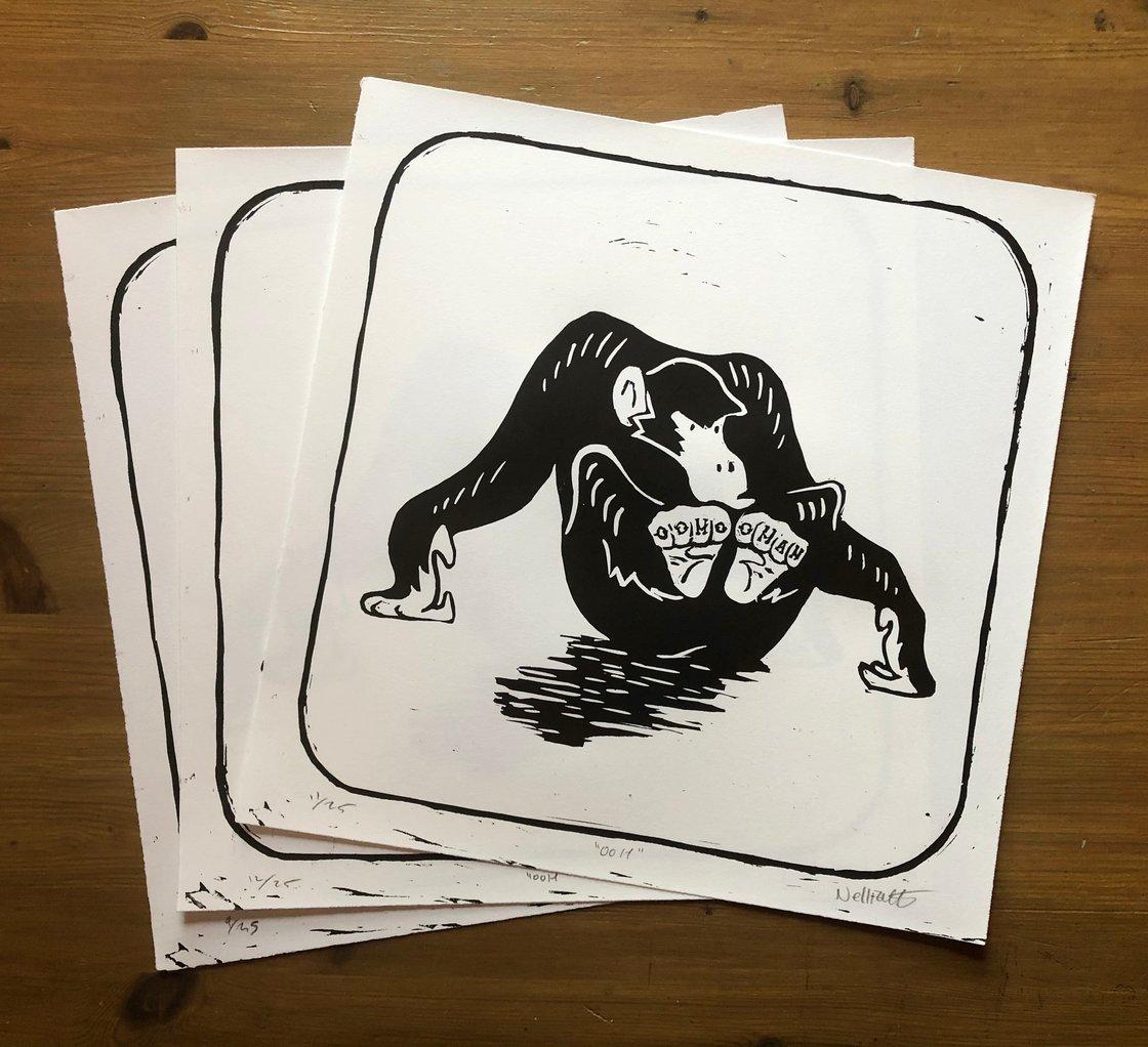 Image of Ooh! Chimpanzee Print