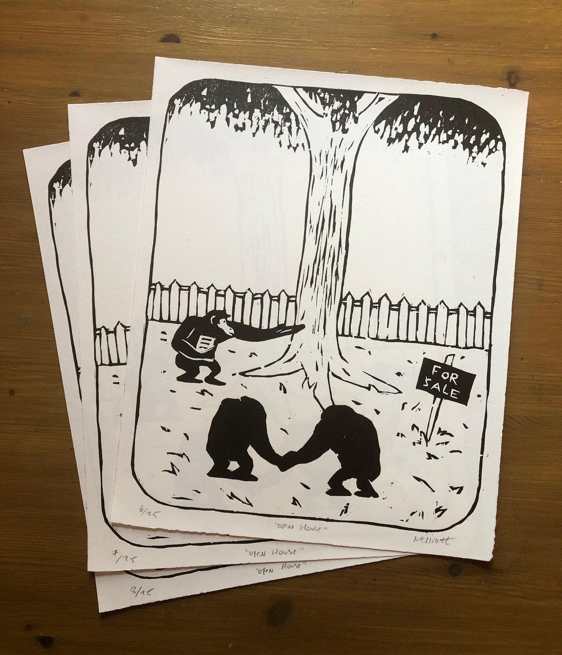 Image of Open House Chimpanzee Print